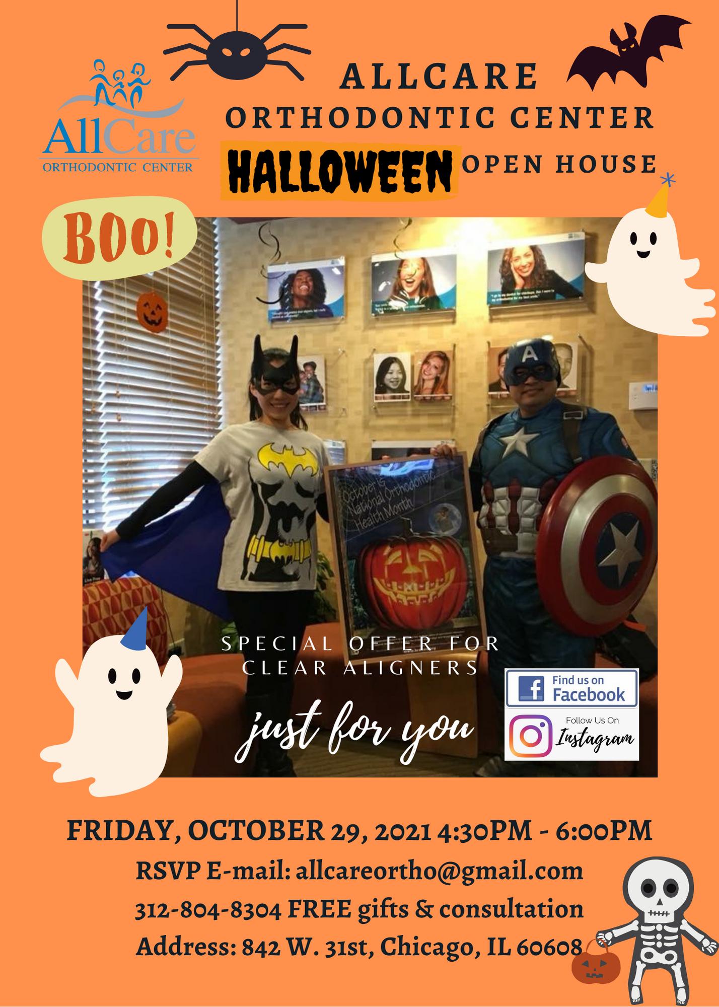 AllCare Halloween Open House Flyer 2021