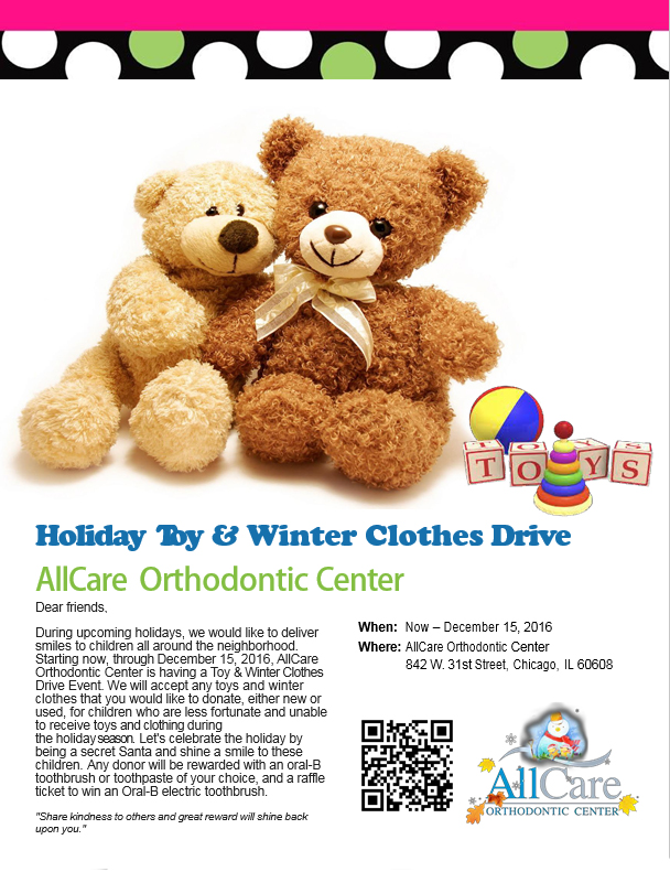AllCare Orthodontic Annual Toys & Winter Clothes Drive