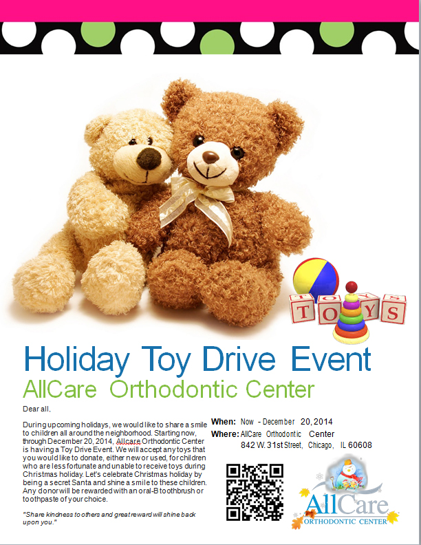 AllCare Orthodontic Center Holiday Toy Drive 2014