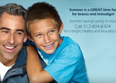 Chicago summer savings on braces, invisalign